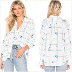 Free People Window To My Heart Button Up Blouse M